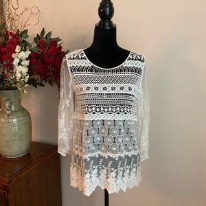 CHICO'S Crochet/Lace Top